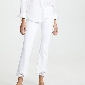 New J Brand Selena Mid Rise Crop lace Jeans